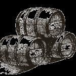 sketch of wine barrels